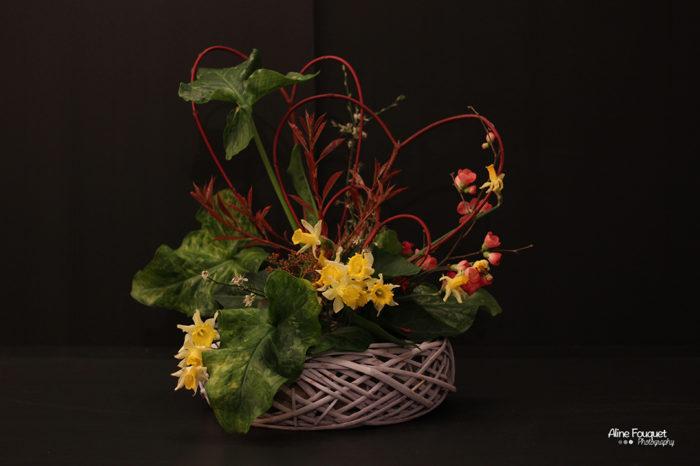 Composition florale Saint Valentin