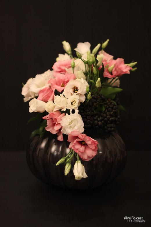Bouquet rond lysianthus